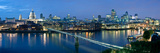 Millennium Bridge and St. Paul's Cathedral at Dusk, Thames River, London, England Photographic Print by  Panoramic Images