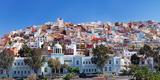 Colorful Houses at the District San Juan, Las Palmas De Gran Canaria, Gran Canaria, Spain Photographic Print by  Panoramic Images