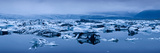 Icebergs in a Glacial Lake, Jokulsarlon Lagoon, Iceland Photographic Print by  Panoramic Images