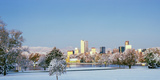City Park Covered with Snow at Winter, City Park, Denver, Colorado, USA Photographic Print by  Panoramic Images