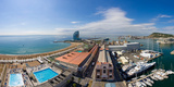 High Angle View of Harbor, Barcelona, Catalonia, Spain Photographic Print by  Panoramic Images