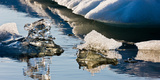 Icebergs, Jokulsarlon Glacial Lagoon, Breidamerkurjokull, Vatnajokull Ice Cap, Iceland Photographic Print by  Panoramic Images