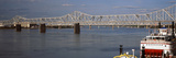 Steamboat Belle of Louisville in Ohio River with John F. Kennedy Memorial Bridge Photographic Print by  Panoramic Images