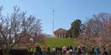 Tourists at the Gravesite of John F. Kennedy, Arlington House, Arlington National Cemetery Photographic Print by  Panoramic Images