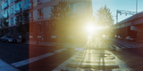 Delancey Street at Sunrise, Lower East Side, Manhattan, New York City, New York State, USA Photographic Print by  Panoramic Images