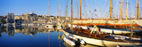 Boats Moored at a Harbor, Vieux Port, Marseille, Provence-Alpes-Cote D'Azur, France Photographic Print by  Panoramic Images