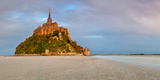 Cathedral on an Island, Mont Saint-Michel, Manche, Basse-Normandy, France Photographic Print by  Panoramic Images