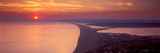 Chesil Beach at Sunset, Portland, Dorset, England Photographic Print by  Panoramic Images