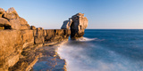Rock Formations on the Coast, Dorset, England Photographic Print by  Panoramic Images