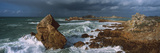 Waves Breaking on the Coast, Le Diben, Morlaix Bay, Finistere, Brittany, France Photographic Print by  Panoramic Images