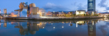 Reflection of a Museum on Water, Guggenheim Museum, Bilbao, Basque Country, Spain Photographic Print by  Panoramic Images