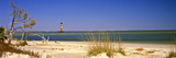 Beach with Lighthouse in the Background, Morris Island Lighthouse, Morris Island, South Carolina Fotodruck von  Panoramic Images