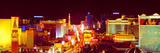 City Lit Up at Night, Las Vegas, Clark County, Nevada, USA Photographic Print by  Panoramic Images