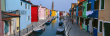 Houses Along a Canal, Burano, Venice, Veneto, Italy Photographic Print by  Panoramic Images