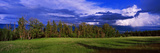 Panoramic Images - Clouds over a Valley, Flathead Lake, Us Glacier National Park, Montana, USA - Fotografik Baskı