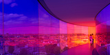 View of a City from the Translucent Walkway of a Museum, Aros Aarhus Kunstmuseum, Aarhus, Denmark Photographic Print by  Panoramic Images