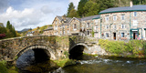 Bridge with Houses at Beddgelert, Snowdonia, Gwynedd, Wales Photographic Print by  Panoramic Images