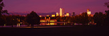 City Park Lake and Boathouse at Night, Denver, Colorado, USA Photographic Print by  Panoramic Images