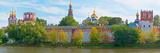 Novodevichy Convent and Cathedral of Our Lady of Smolensk Along Moskva River, Moscow, Russia Photographic Print by  Panoramic Images