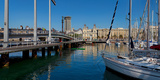 Boats at a Harbor, Port Vell, Barcelona, Catalonia, Spain Photographic Print by  Panoramic Images