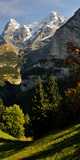 Lauterbrunnen Valley with Mt Eiger and Mt Monch in the Background, Murren, Bernese Oberland Photographic Print by  Panoramic Images