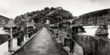 Stone Bridge Leading to a Small Island, Niteroi, Rio De Janeiro, Brazil Photographic Print by  Panoramic Images