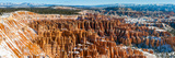 Bryce Canyon Amphitheater after Spring Snowfall, Bryce Canyon National Park, Utah, USA Photographic Print by  Panoramic Images