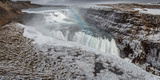 Gullfoss Waterfall, (Golden Falls), Iceland Photographic Print by  Panoramic Images