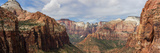 Rock Formations, Zion National Park, Nevada, USA Photographic Print by  Panoramic Images