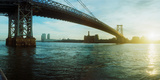 Suspension Bridge over a River, Williamsburg Bridge, East River, Lower East Side, Manhattan Photographic Print by  Panoramic Images