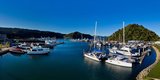 Boats at a Harbor, Picton, Marlborough, New Zealand Photographic Print by  Panoramic Images