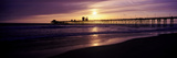 Sunset at Oceanside Pier, Oceanside, California, USA Photographic Print by  Panoramic Images