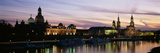 Reflection of Buildings on Water, Dresden Frauenkirche, River Elbe, Dresden, Saxony, Germany Photographic Print by  Panoramic Images