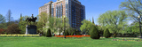 Garden with a Building in the Background, Boston Public Garden, Boston, Massachusetts, USA Photographic Print by  Panoramic Images
