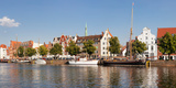 Holstenhafen on the River Untertrave, Lubeck, Schleswig-Holstein, Germany Photographic Print by  Panoramic Images