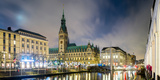 View of Hamburg Rathaus at Dusk, Hamburg, Germany Photographic Print by  Panoramic Images