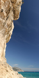 Limestone Cliffs on the Beach, Cala Luna, Cala Gonone, Nuoro, Sardinia, Italy Photographic Print by  Panoramic Images