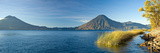 Reeds in a Lake with a Mountain Range in the Background, Lake Atitlan, Santa Cruz La Laguna Photographic Print by  Panoramic Images