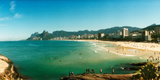Tourists on the Beach, Ipanema Beach, Rio De Janeiro, Brazil Photographic Print by  Panoramic Images