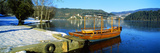 Traditional Boat Docked at a Port, Lake Bled, Slovenia Photographic Print by  Panoramic Images