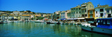 Boats Docked at a Harbor, Cassis, Provence-Alpes-Cote D'Azur, France Photographic Print by  Panoramic Images