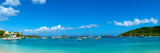 Boats in the Sea, Cruz Bay, St. John, Us Virgin Islands Photographic Print by  Panoramic Images
