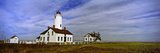 Lighthouse on a Landscape, Dungeness Lighthouse, Dungeness Spit, Olympic Peninsula Photographic Print by  Panoramic Images