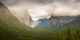 Yosemite Valley with a Controlled Burn in the Valley by the Park Service, Yosemite National Park Photographic Print by  Panoramic Images