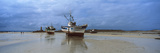 Boats on the Beach, Cotes-D'Armor, Brittany, France Photographic Print by  Panoramic Images