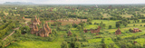 Southern View of Stupas Seen from Top of Tower at Aureum Palace Hotel, Bagan, Mandalay Region Papier Photo par  Panoramic Images
