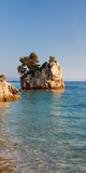 Tree on a Rock in the Sea, Brela, Makarska Riviera, Dalmatia, Croatia Photographic Print by  Panoramic Images