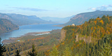 Columbia River Gorge in Autumn, Oregon, USA Photographic Print by  Panoramic Images