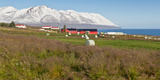 Farmland in the North, Eyjafjordur, Akureyri, Iceland Photographic Print by  Panoramic Images