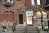 Front Stoop of Abandoned Brick Apartment, Philadelphia, Pennsylvania Photographic Print